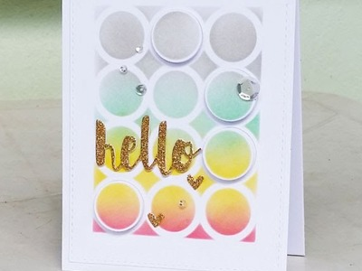 Simon Says Stamp Dye Inks Blending. Hello Card