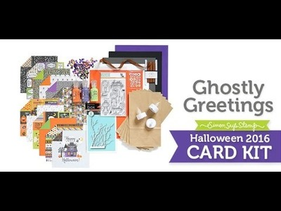 Simon Says Stamp Special Limited Edition Ghostly Greetings Halloween Card Kit