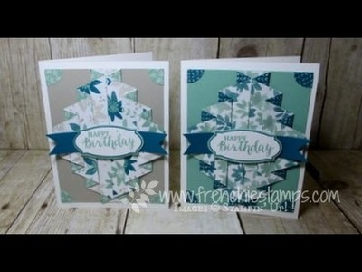 Stampin'Up! Blooms & Bliss Double Pleated Fold