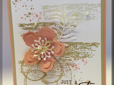 Stampin Up Botanical Builder Thinlits and Timeless Textures Stamp Set