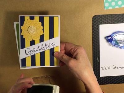 Stampin Up Graduation diagonal cut cards