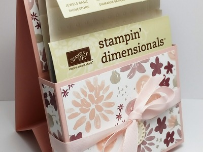 Stampin Up! Storage for Dimensionals.Pearls using Blooms & Bliss