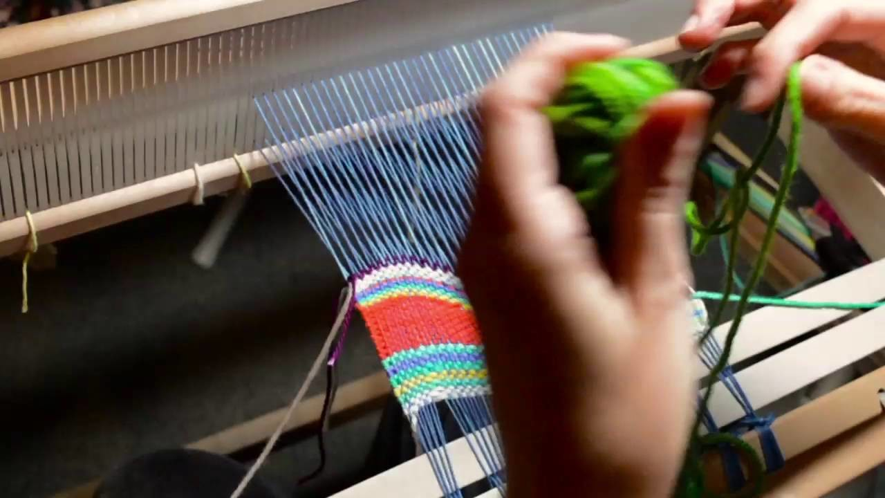 Tapestry style weaving on a rigid heddle loom, part 1