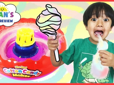 The Real Cotton Candy Maker with Lite Up wand toy for kids Ryan ToysReview