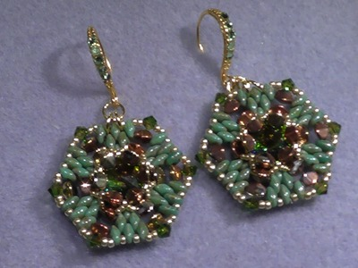 Tutorial Earrings - Embed rivoli with Pinch-Beads - may 2016