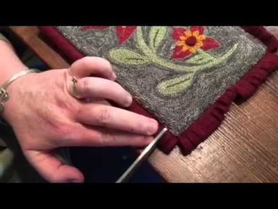 Two neat finishing techniques for punch needle