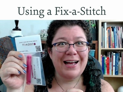 Using a Fix-A-Stitch knitting repair tool
