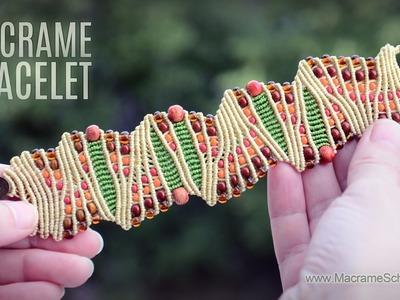 Artistic Macramé Bracelet idea by Macrame School