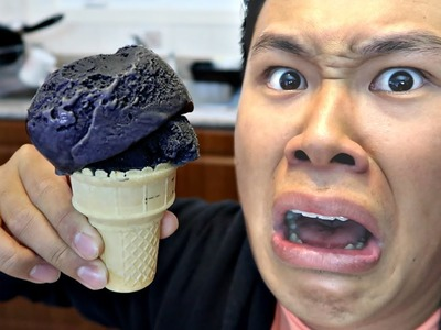 BLACK ICE CREAM TASTE TEST!!