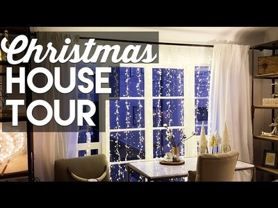 CHRISTMAS DECORATING SMALL APARTMENT TOUR!  - Christmas & Holiday Decorating 2016!
