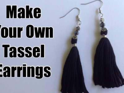 Create Easy Tassel Earrings or Pendants with Embroidery Thread Tutorial