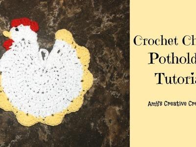 Crochet Chicken Potholder Tutorial