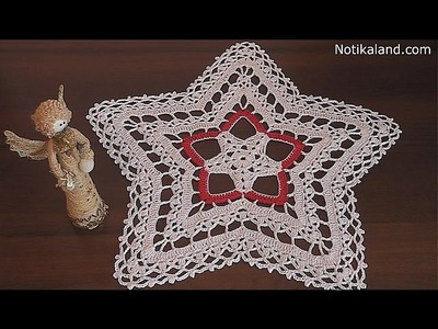 CROCHET doily  rug  STAR Part 1 1-4 round