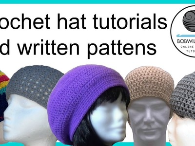 Crochet hat tutorials promotional video