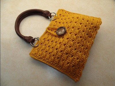 CROCHET How To #Crochet Cross Cable Handbag Purse TUTORIAL #351