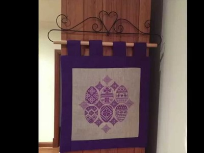 Cross Stitch #32 - Creating an EASY Wall Hanging or Cushion