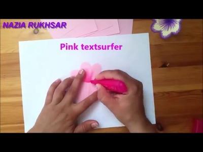 DIY 3D flower POP UP card - Nazia Rukhsar Craft