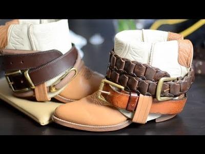 DIY- Boho Boots Using Old Cowboy Boots!