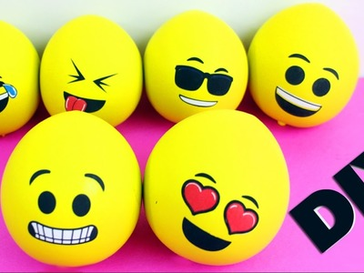 DIY Cheap Emoji Stress Relief  Ball - Squishy -  5 minutes craft