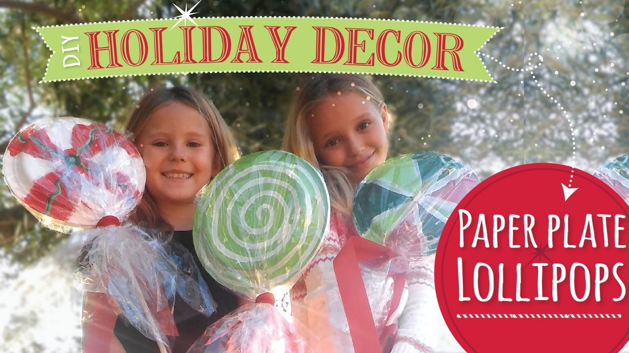 DIY Christmas Decorations  | Paper Plate Lollipops  |  Easy Kids Craft
