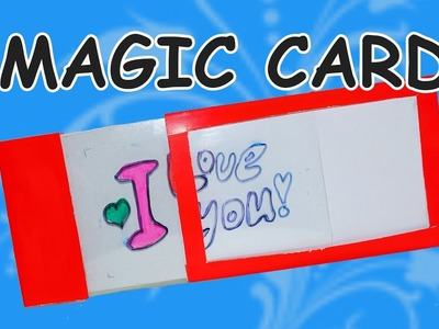 DIY  craft ideas. DIY card ideas.  How to make magic card. DIY beauty and easy