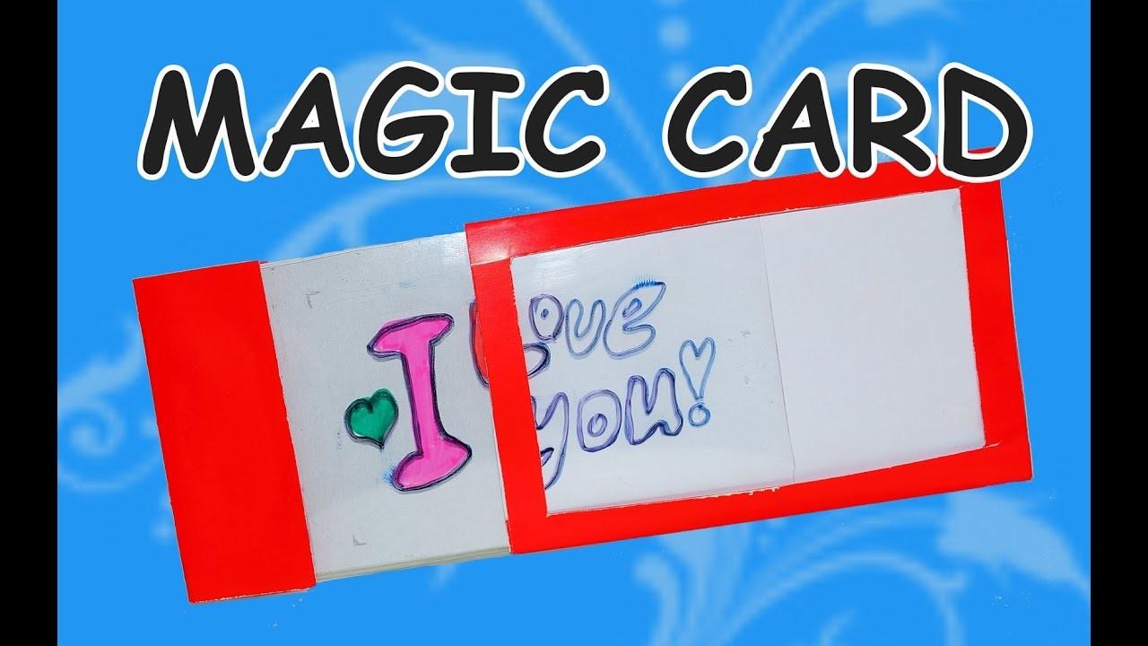 DIY  craft ideas. DIY card ideas.  How to make magic card. DIY beauty and easy