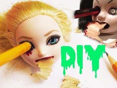 DIY Doll Head Sharpener ❤ Creepy Bleeding Doll Craft