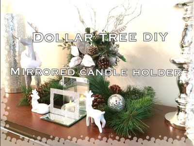 DIY DOLLAR TREE MIRRORED TEA LIGHT CANDLE HOLDER|VD#4