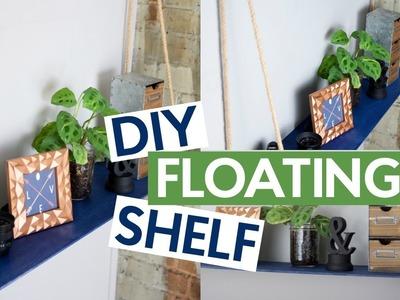 DIY FLOATING SHELF   DIY HOME DECOR