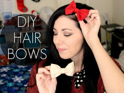 DIY HAIRBOWS (no-sew) ^^