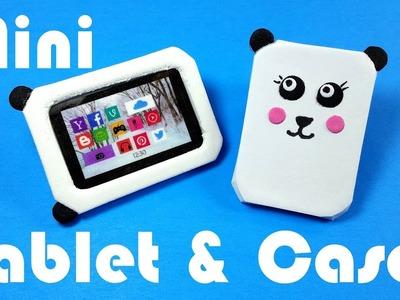 DIY Miniature Tablet & Panda Case - Dollhouse DIY