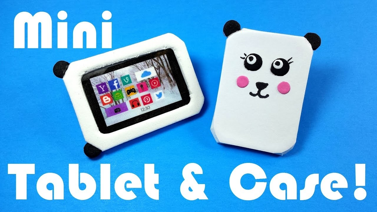 DIY Miniature Tablet & Panda Case - Dollhouse DIY