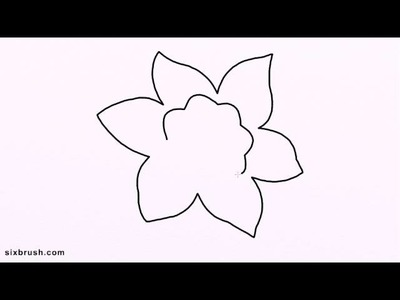 E 3256 how to draw daffodil easy for beginners step by step