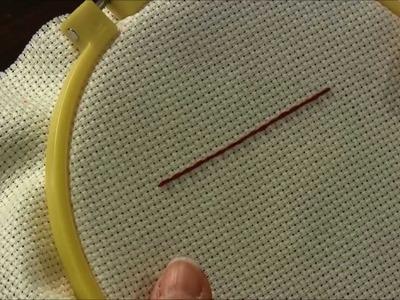 Embroidery Stitch - Backstitch