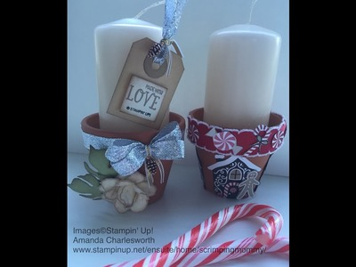 Festive candles tutorial using Stampin' Up! products