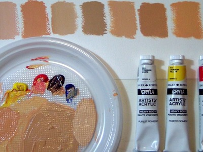 FIFTY SHADES OF. SKIN - How to mix CAUCASIAN flesh tones by ART Tv