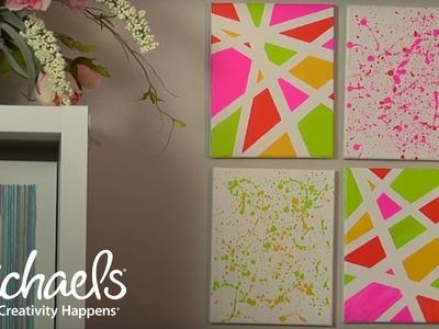 Geometric and Splatter Paint Wall Décor   Michaels