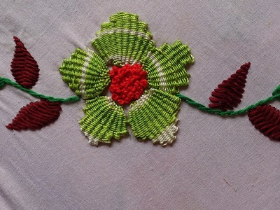 Hand embroidery designs, Hand embroidery stitches for dresses. Kadai kamal stitch.