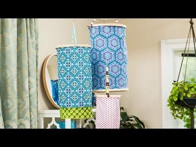 How To - DIY Embroidery Hoop Lanterns - Hallmark Channel