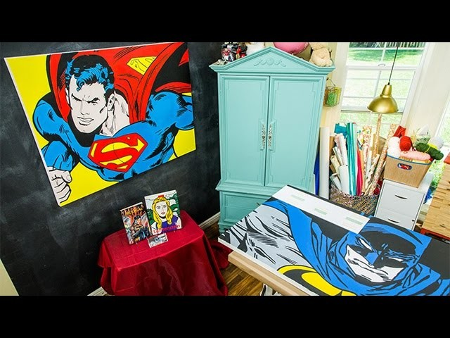 How To - DIY Superhero Comic Book Art - Hallmark Channel