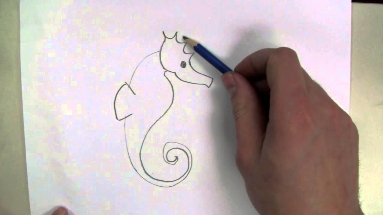 How To Draw: a Seahorse