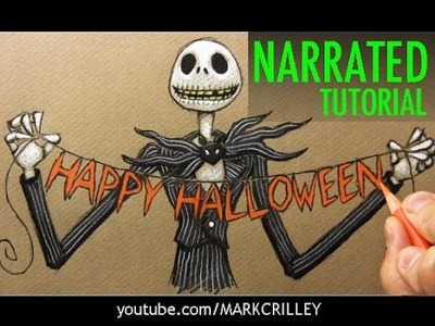 "How to Draw Jack Skellington from ""The Nightmare Before Christmas"""