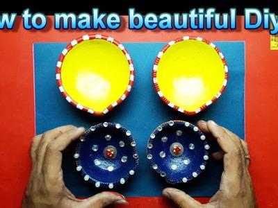 How to make a beautiful Diya || clay design || Art and Craft