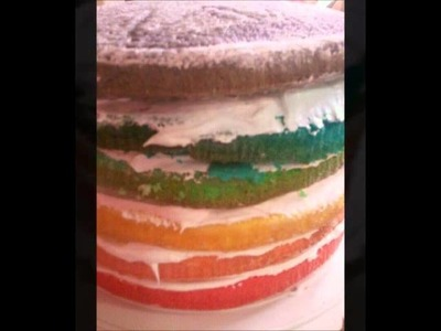 How To- Make A Layered  Rainbow Cake!
