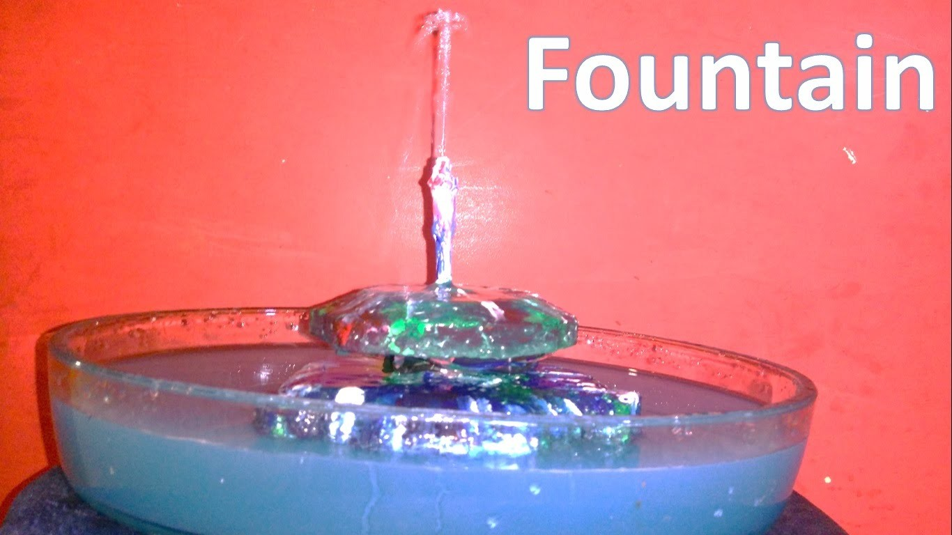 How to make a simple table top floating fountain