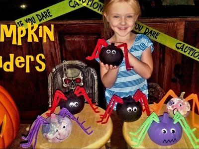 How to Make Pumpkin Spiders - Halloween Kids Craft