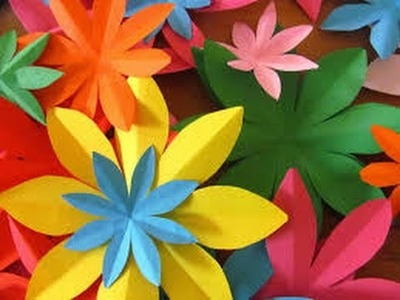 How to make simple & easy paper flower - Paper Cutting Craft Videos Tutorials