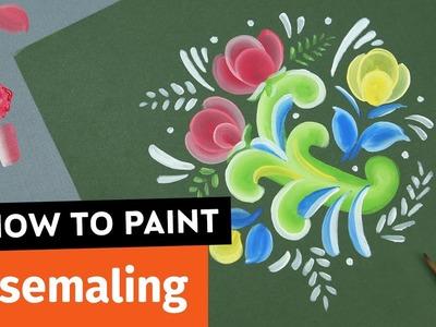 How to Paint Rosemaling | Sea Lemon