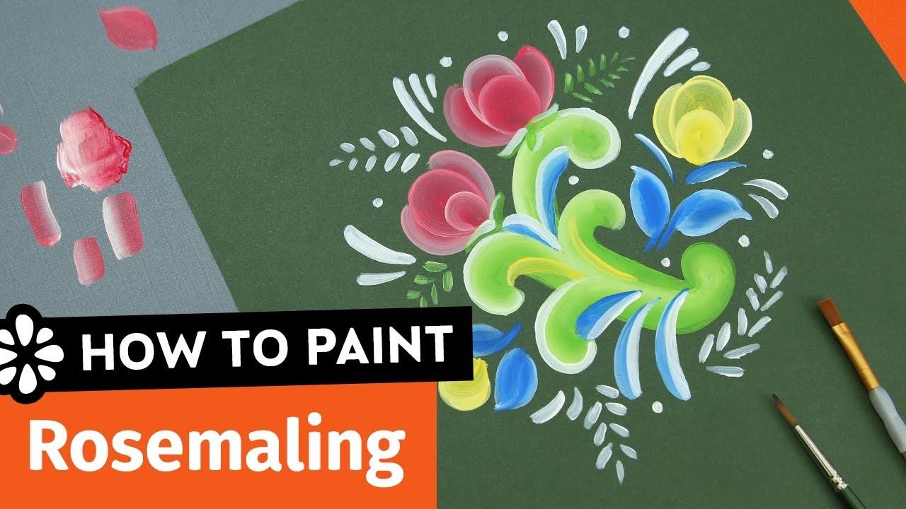 How to Paint Rosemaling   Sea Lemon