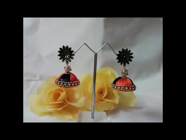 Latest Handmade Thread Pendants and Earrings